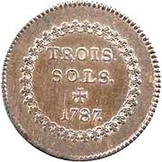 3 sols Louis XVI – revers