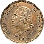 10 centimes - Louis XVIII (Essai) – avers