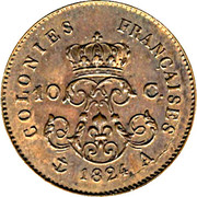 10 centimes - Louis XVIII (Essai) – revers