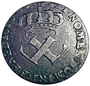 9 deniers - colonies américaines (Louis XV) – avers