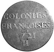 9 deniers - colonies américaines (Louis XV) – revers
