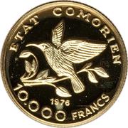 10 000 francs (Indépendance) – avers