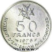 50 francs (Indépendance, essai) – revers