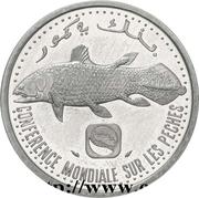 5 francs (Conférence mondiale pour les pêches, essai) – avers