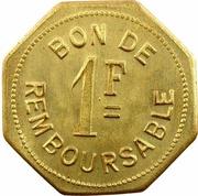 1 Franc (Société Anonyme Token Coinage; Brass) – revers