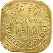 2 Francs (Société Anonyme Token Coinage; brass) – avers