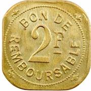 2 francs (Société anonyme de la Grande Comore) – revers