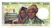 5,000 Francs – avers