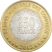 250 francs (Banque centrale) – revers