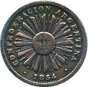 1 centavo (Confederación Argentina) – avers