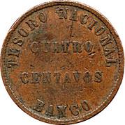 4 centavos (Confederación Argentina) – revers
