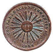 2 centavos (Confederación Argentina) – avers