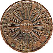 4 centavos (Confederación Argentina) – avers