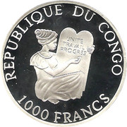 1000 francs (Darwin) – avers
