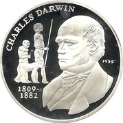 1000 francs (Darwin) – revers