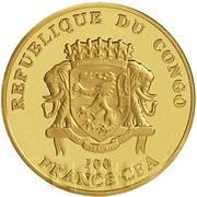 100 Francs CFA (Pape François) – avers