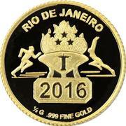 100 Francs CFA (Jeux olympiques Rio 2016) – revers