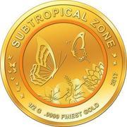 100 Francs CFA (Papillons) – revers
