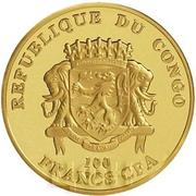 100 Francs CFA (Helmut Schmidt) – avers