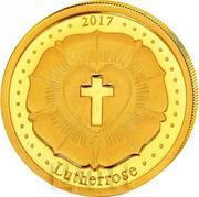 100 Francs CFA (Lutherrose) – revers