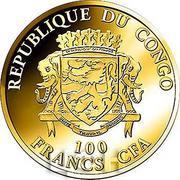 100 Francs CFA (Joyeux Noël) – avers