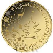 100 Francs CFA (Joyeux Noël) – revers