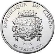 20 Francs CFA (Tenochtitlan) – avers
