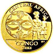 100 Francs CFA (Teke) – revers