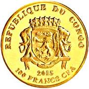 100 Francs CFA (Hel'pa) -  avers