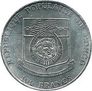100 Francs CFA (Jeux olympiques Barcelone 1992) – avers