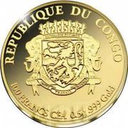 100 Francs CFA (Sagrada Familia) – avers