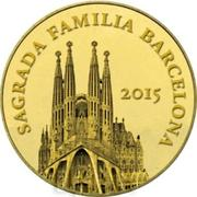 100 Francs CFA (Sagrada Familia) – revers