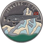 100 Francs (Junkers JU52) – revers