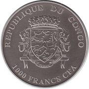 1000 Francs CFA (Rhinocéros) – avers