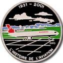 1000 Francs CFA (Avion McDonnell Douglas MD-11) – revers