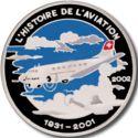 1000 Francs CFA (Avion Douglas DC-3) – revers