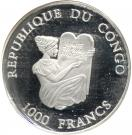 1000 Francs CFA (Château de Hohenzollern) – avers
