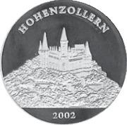 1000 Francs CFA (Château de Hohenzollern) – revers