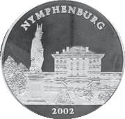 1000 Francs CFA (Château de Nymphembourg) – revers