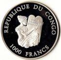 1000 Francs CFA (Avion BAC 1-11) – avers