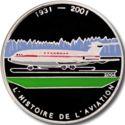 1000 Francs CFA (Avion BAC 1-11) – revers