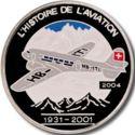 1000 Francs CFA (Avion Douglas DC-2) – revers