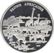 1000 Francs CFA (Faune africaine) – revers