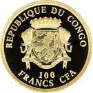 100 Francs CFA (Christmas) – avers
