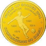 100 Francs CFA (FIFA World Cup 2014) – revers