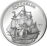 1000 Francs CFA (San Carlos) – revers