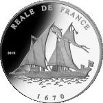 1000 Francs CFA (Reale de France) – revers