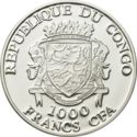 1000 Francs CFA (Nectophrynoides Asperginis) – avers