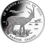1000 Francs CFA (Gazelle de Grant) – revers
