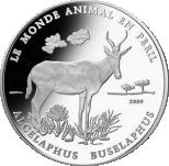 1000 Francs CFA (Alcelaphus Buselaphus) – revers
